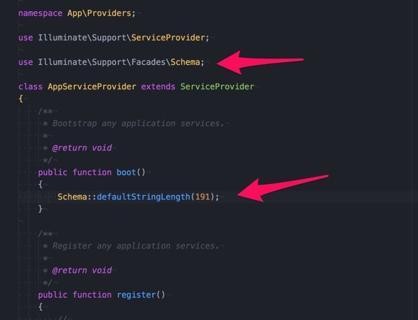 AppServiceProvider php Dropbox Local MAMP htdocs dev Laravel RESTFulAPI