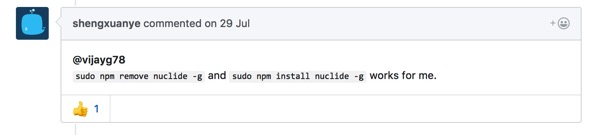 Version mismatch Client at 208 while server at 207 Issue 1035 facebook nuclide